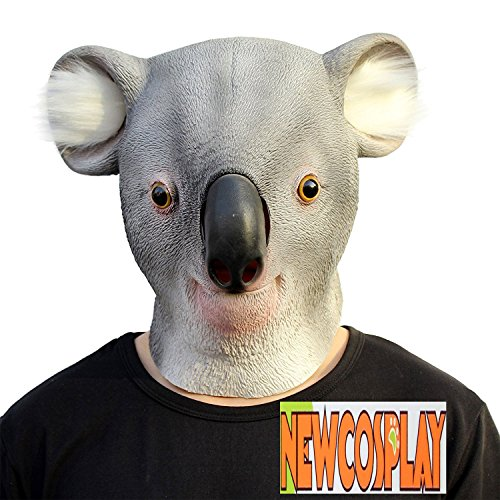 NEWCOSPLAY Halloween Costume Party Latex Sloth Animal Head Mask (koala) - Creepy Koala Costume