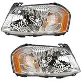 2001-2002-2003-2004 Mazda Tribute Headlight Headlamp Halogen Composite Front Head Lamp Light Pair Set Left Driver AND Right Passenger Side (01 02 03 04)