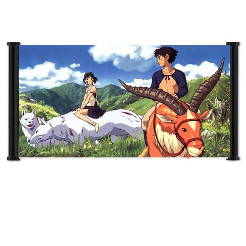 Princess Mononoke Anime Fabric Wall Scroll Poster (30