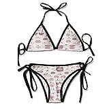 shameless us season 1 - KinForYboby Peach Lip Rose Pink Girls Hot Beach Surfing Swimwear Set