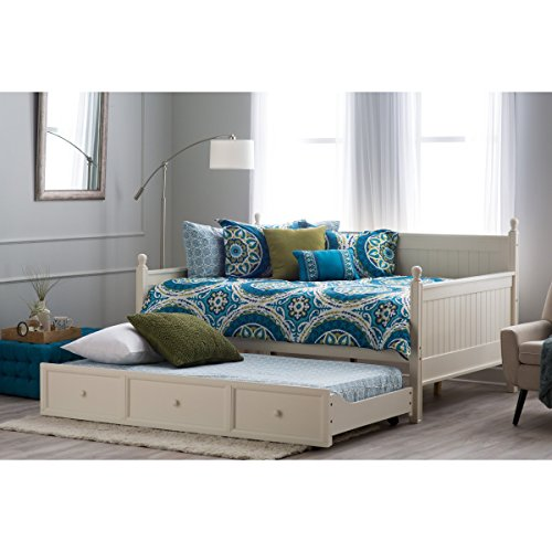 Daybed Furniture Twin Daybed with Roll Out Trundle and Twin-size Trundle