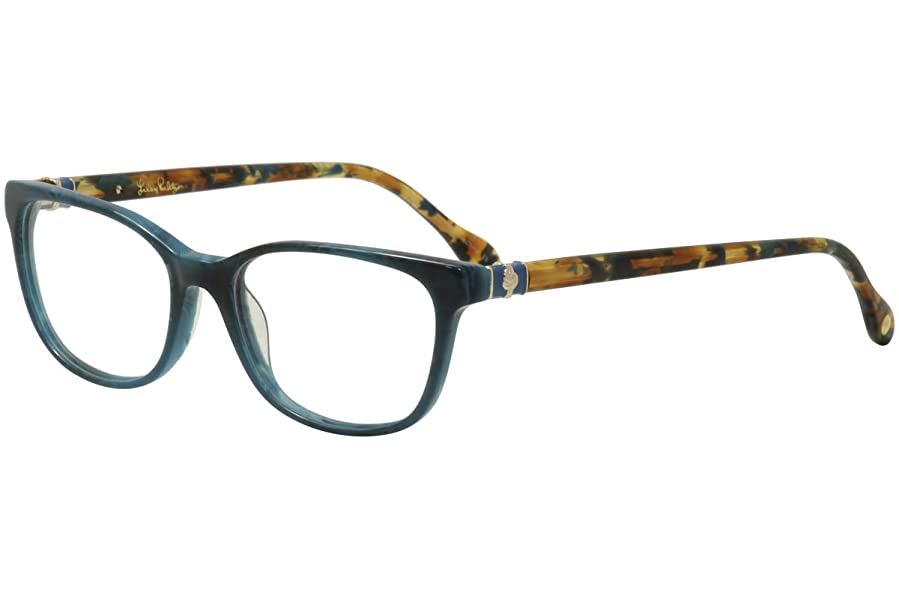 LILLY PULITZER Eyeglasses SANIBEL Teal Marble at Amazon Men\'s ...