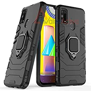 ValueActive Covers and Cases for Samsung Galaxy M31 Case Back Cover Rugged Armor TPU + PC Hybrid Kickstand Back Case…