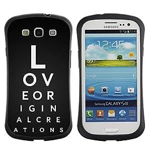 Suave TPU GEL Carcasa Funda Silicona Blando Estuche Caso de protección (para) Samsung Galaxy S3 I9300 / CECELL Phone case / / Love Typography /