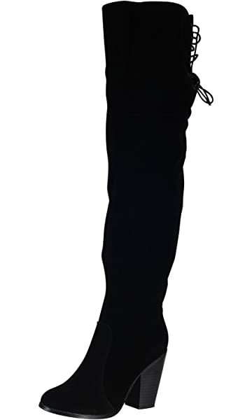 10067306433 Chase   Chloe Max-2 Women s Over The Knee Thigh High Suede Chunky Heel Boot