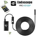 Wireless Endoscope,HD 720P Waterproof Smart WIFI Camera Snake Inspection Endoscope LED