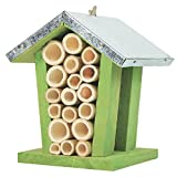 Gardirect Bee and Bug Home, Insect Hotel, 4.7'' x 4.7'' x 6.1''