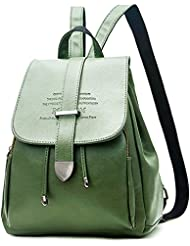 EssFeel Stylish Leather Backpack School Travel Daypack Casual Style Backpack Knapsack for Women Girl