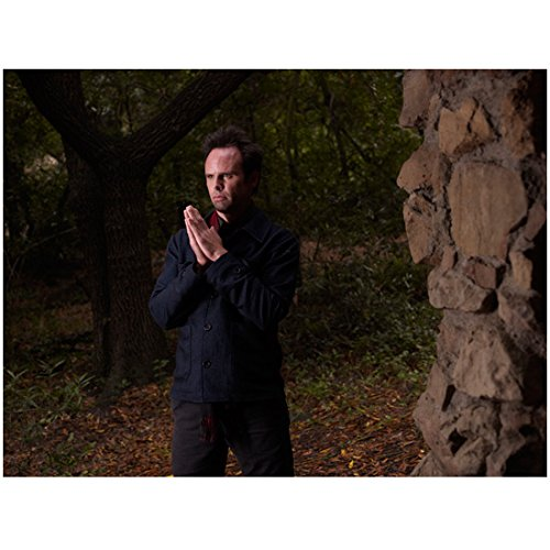 Justified (TV Series 2010 - 2015) 8 Inch x10 Inch Photo Walton Goggins Black Shirt & Pants Palms Together kn