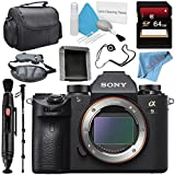 Sony Alpha a9 Mirrorless Digital Camera (Body) ILCE9/B + 64GB SDXC Card + Carrying Case + Memory Card Wallet + Lens Pen Cleaner + Fibercloth + Lens Capkeeper + Deluxe Cleaning Kit Bundle