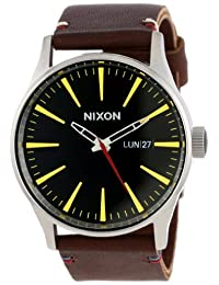 Nixon Men's A105019 Sentry Leather Watch