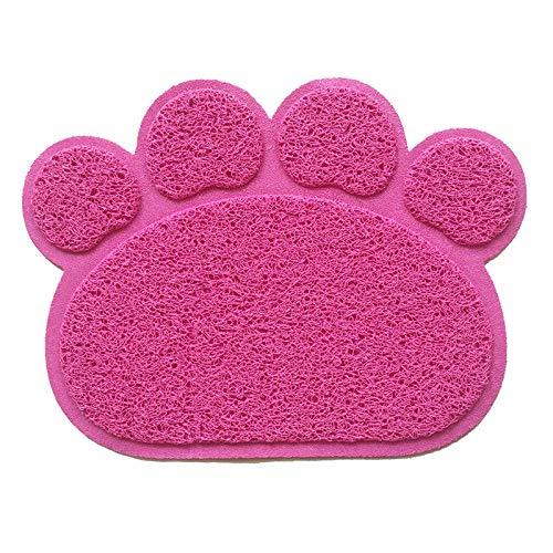 FidgetFidget Fashion Paw Shape Dog Cat Litter Mat Puppy Kitty Dish Feed Bowl Tray Tidy Clean #2#2 - Paws Cat Bowl