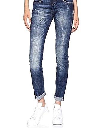 Herrlicher Damen Slim Jeans Piper Destroyed: