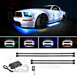 LEDGlow 4pc Million Color Wireless LED Underbody Kit