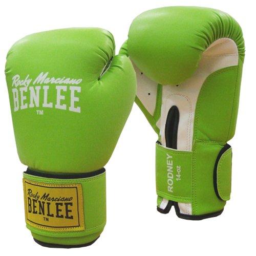 BENLEE Rocky Marciano PU トレーニンググローブ ロドニー - グリーン/ホワイト 10オンス B00DS464GO