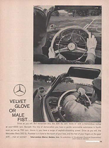 - Magazine Print Ad: 1960 Mercedes-Benz 300 SL Roadster,