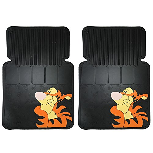 Tigger Face 2pc Front Black Rubber Universal