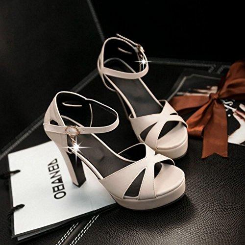 Coolcept - Zapatos con tacón mujer Beige