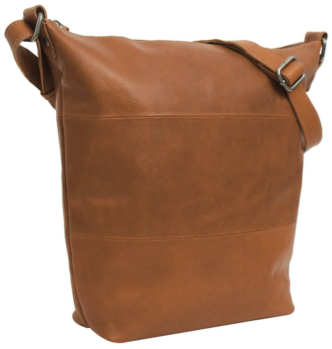 "Gusti Sac cabas Cuir studio ""Zahara"" sac à main vintage sac en bandoulière rétro femme marron clair 2M45-29-1 S"