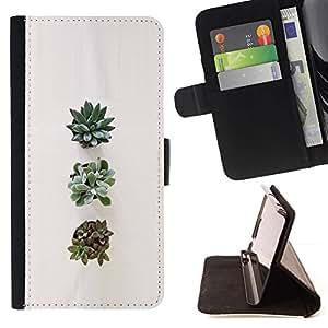 Momo Phone Case / Flip Funda de Cuero Case Cover - Planta de la flor del arte Naturaleza - Sony Xperia Z5 Compact Z5 Mini (Not for Normal Z5)