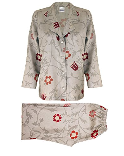 Armani International Angelic Linen Pajama Set Large, Safari-Floral