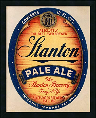 Framed Canvas Wall Art Print | Home Wall Decor Canvas Art | Stanton Pale Ale Beer by Vintage Booze Labels | Modern Decor | Stretched Canvas Prints