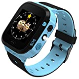 Enow Kids Smart Watch, LBS Tracker for 3-12 Year Old Boys Girls with SOS Call Camera Flashlight Alarm Activity 1.44'' Touch Screen SIM Card Slot Electronic Toy for Android/iOS (Blue)