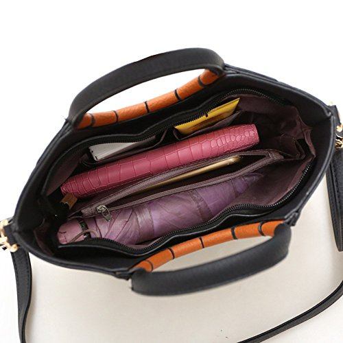 PU Main BAILIANG Coutures Mode Womens Bandoulière Sac Yellowbrown ​​sac à Bandoulière à AxpH5xBwq