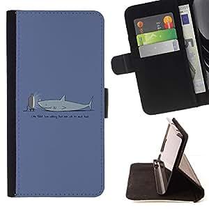 Momo Phone Case / Flip Funda de Cuero Case Cover - TV Divertido Tiburón;;;;;;;; - Sony Xperia Z5 5.2 Inch (Not for Z5 Premium 5.5 Inch)