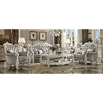 Acme Versailles Living Room Set With Sofa And Loveseat Kitchen Dining