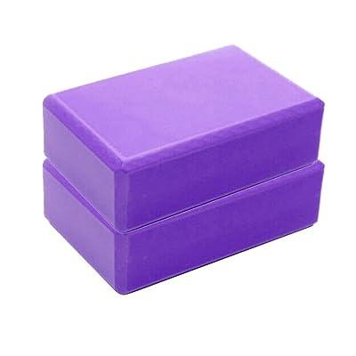 Sanyyanlsy Exercise Fitness Yoga Blocks Soft Foam Bolster Pillow Cushion EVA Meditation Training Purple: Clothing