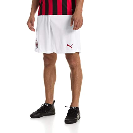 de45b2d31e87 PUMA Herren AC Milan Shorts Replica Without Inner Slip Hose White-Tango  Red