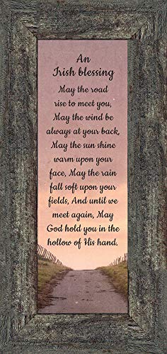 an Irish Blessing, Irish Blessing Picture Frame, May The Road Rise to Meet You, 6x12 7351BW
