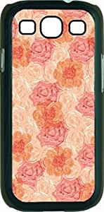 Flowers and Roses - Case for the Samsung Galaxy S III-S3- Hard Black Plastic Snap On Case
