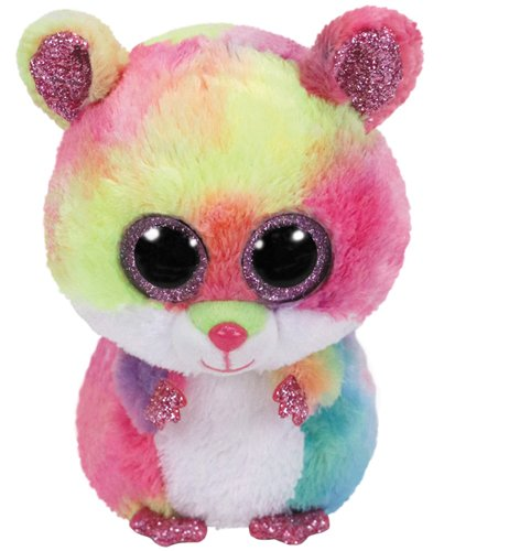 Ty Beanie Boo S Small-Rodney el hámster Peluche, ty36214