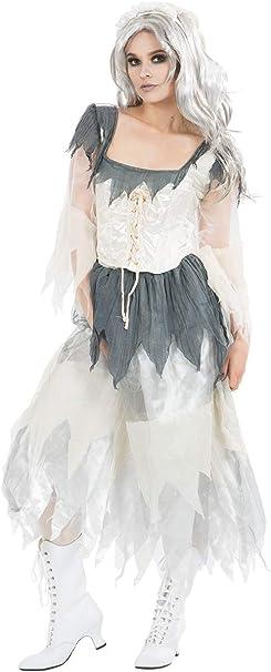 Disfraz de La Novia Cadáver Fantasma Zombi Aterrador para ...