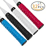 #5: PAMASE 32 Packs Tennis Racquet Replacement Overgrip Tape - Multi-purpose Anti-slip Self-stick Grip Wrap for Squash Racket, Racquetball, Badminton, Pickleball Paddle, Baseball Bat Handle