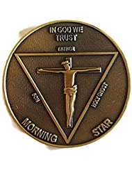 LUCIFER (TV Show) Lucifer Morningstar Bronze-Tone Inspired Pentecostal Round Metal Coin