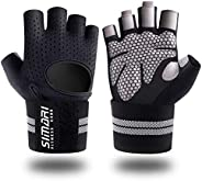 SIMARI Workout Gloves Men Women Weight Lifting Gloves with Wrist Support for Gym Exercise Fitness Training Lif