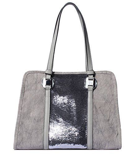 Let It Be Best Women's Work Tote - Stylish Canvas Handbags with Sequins Decoration - Medium Size Lightweight Office 14