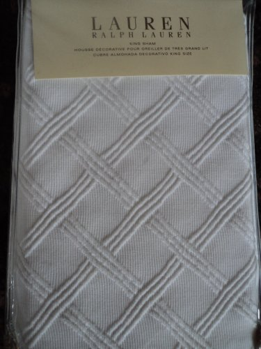 Ralph Lauren Georgica Garden Lattice King Pillow Sham