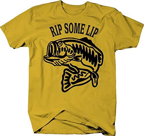 Rip Some Lip Big Fish Bass Walleye Tshirt - Small