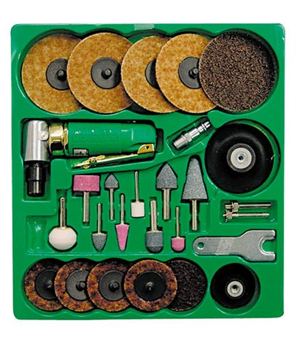 Mountain 7310 Surface Prep Kit with 90 Degree Angle Die Grinder and Surface Prep (Surface Prep Pad Kit)
