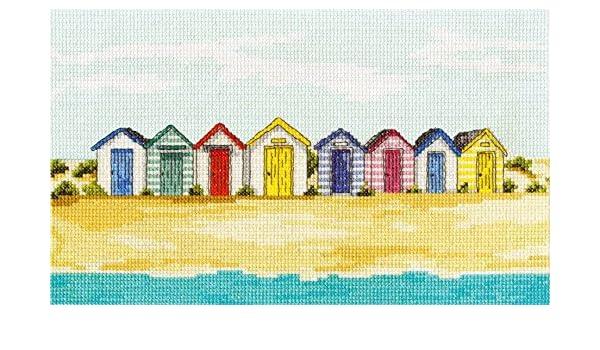 DMC Rayas diseño de casetas de Playa 14 Juego de Punto de Cruz: Amazon.es: Hogar