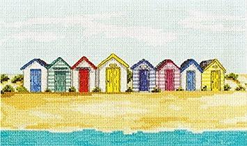 DMC Rayas diseño de casetas de Playa 14 Juego de Punto de Cruz