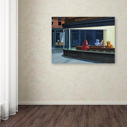 Amazon Com Robohawks By Eric Joyner Wall Decor 24 By 32 Canvas Wall Art Posters Prints