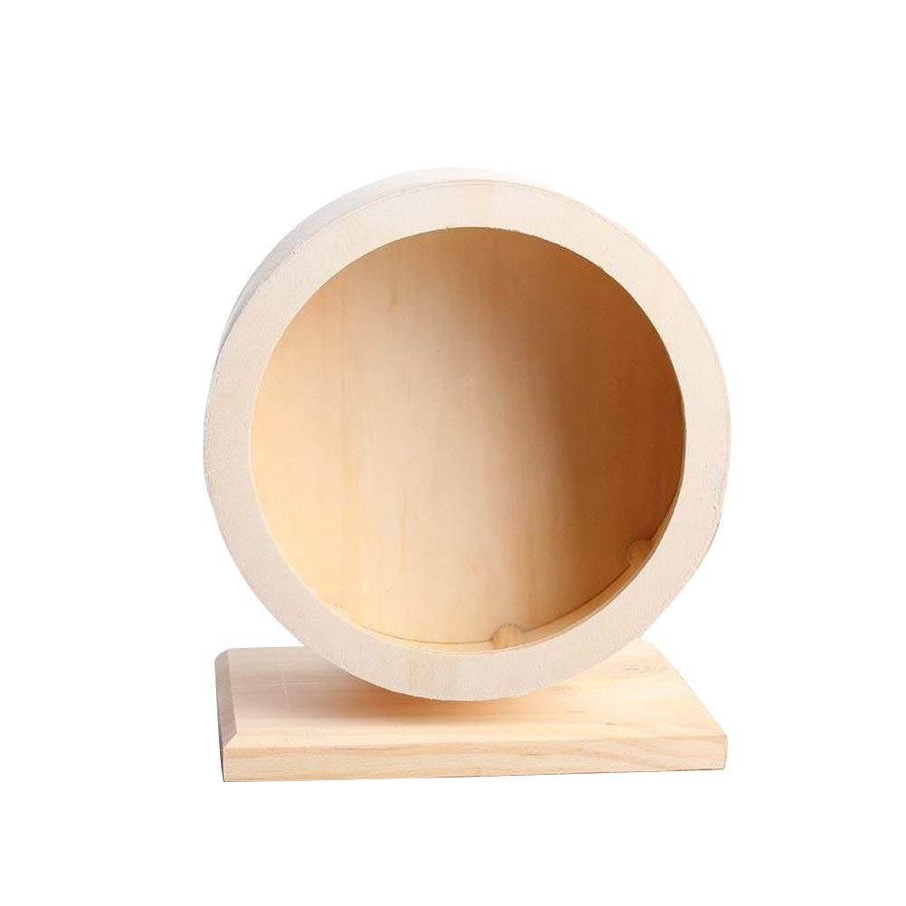 Exercise Wheels Pet Toy Exercise Hamsters Running Mute Wheel Eco Friendly Wooden Hedgehogs People Animals Small Rabbits Cats Wheels Exercise Exercise Wheels Hamster Wheel Wood Disc Outf