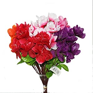 DollarItemDirect BH Artificial Azalea Stem 14in Asst Clrs, Case of 48 43