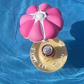 Natación lindo paraguas inflable beber Portavasos juguetes flotantes para la Fiesta Beach ,seta Rosa MAPLE: Amazon.es: Deportes y aire libre