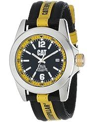 CAT Mens YA14163134 Big Twist Black Analog Dial with a Black and Yellow Nylon Strap Watch